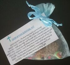 GODFATHER Survival Kit GIFT For GODPARENTS CHRISTENING Baptism keepsake novelty