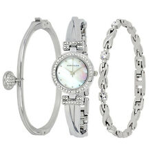 Anne Klein Mother of Pearl Dial Ladies Watch and Bracelet Set 1869SVST