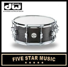 """DW PDP CONCEPT SERIES SNARE MAPLE IN BLACK WAX 5.5x14"""" 14"""" PDSN5514BWCR NEW"""