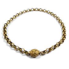 Biedermeier Erbskette 750/18 K Gold Kette mit Zierschließe um 1830 Necklace