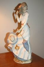 RARE at Auction by LLADRO Zaphir WINDSWEPT Nao AUTUMN  0658 Girl w/ Parasol MINT