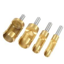 """4X 1/4"""" Shank Wood Plug Cutter / Cutting Set Dowel Maker Tool Drill Bits T1Q6"""