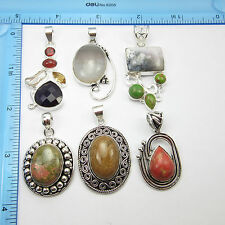 CHRISTMAS SALE ! Wholesale 6 Pcs Pendant LOT, 925 Silver Plated Free Shipping