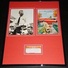 1957 Texas vs Texas A&M  Framed RP Program & Photo Display Royal 1st Win Over AM