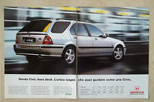 C451-Advertising Pubblicità-1999- HONDA CIVIC AERO DECK