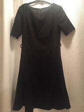 Next black fit and flare Skater dress With Pockets size 10