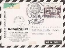 Österreich 1965 Ballonpost Nr. 33 Karte
