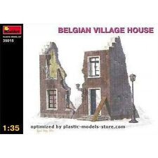 PLASTIC MODEL BUILDINGS  1/35 BELGIAN VILLAGE HOUSE DIORAMA MINIART 35015