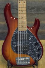 Ernie Ball Music Man StingRay 5 HH Maple FB Honey Burst El. Bass w/ Case #E95616