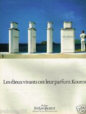 Publicité advertising 1984 Parfums Kouros par Yves Saint Laurent