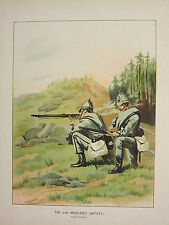 1905 ANTIQUE MILITARY PRINT ~ 20th MIDDLESEX VOLUNTEERS BRITISH IMPERIAL FORCES