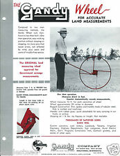 Farm Equipment Brochure - Gandy - Wheel - Land Measurement Survey - Ad (F4381)