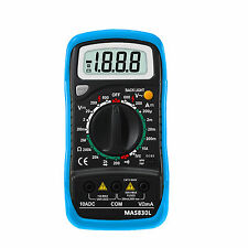 MAS830l 2000 counts small handheld multimeter tester backlight AC DC ohm buzz
