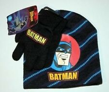 BATMAN Boy's WINTER 2-Piece LOT Set Hat & Gloves 4-6X FREE SHIPPING