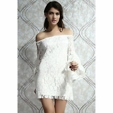 Dreamy White Lace Short Party Cocktail Club Dress - Sz 8,10,12