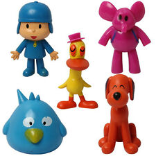 5PCS Cute Pocoyo Elly Pato Loula Figures Doll Toy Figure Set Kids PVC Toys New