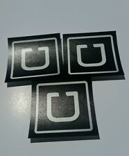 UBER Decal  Sticker (set of 3 PCS) 4x4 inches