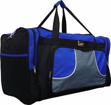 "20"" 40LB. CAP BLACK WITH BLUE DUFFLE BAG/ GYM BAG / LUGGAGE/ CARRY ON"