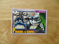 1991 IMPEL MARVEL UNIVERSE II PUNISHER VS KINGPIN CARD SIGNED JOE SINNOTT, POA