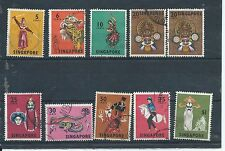 Singapore stamps.  1968 Dancers & instruments part series used. (Y063)