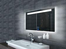 Badezimmerspiegel Badspiegel Wandspiegel mit LED Uhr Beleuchtung 100x65cm ML6510