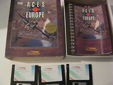 """Aces Over Europe PC game 3.5"""" disks complete Dynamix 1993"""