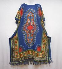 Womens Long Dashiki Royal Blue African Caftan Hippie House Outfit Gown plus size