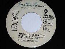 The McPeak Brothers: Somebody Socked It To Mine / Humble Man 45 - Bluegrass