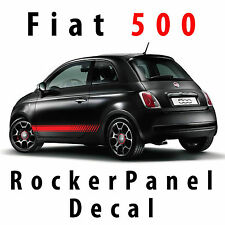 Fiat 500 Rocker Panel Decal Custom Vinyl Side Racing Stripes pre cut 2011 & Up