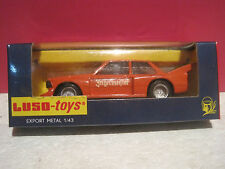 """LUSO-TOYS SUPERBE BMW 320 RACING M-21 """"JAGERMEISTER"""" NEUF BOITE  ech 1/43"""