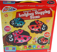 Grafix Make, Design, Paint Your Own Plaster Ladybird Stepping Stone Kit