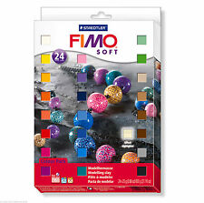 FIMO Soft Polymer Modelling Clay 24 x 25g Blocks Starter Set Fun for Kids