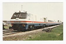 AMTRAK'S LRC # 38 POSTCARD 1980 TEST RUN BETWEEN MONTREAL & RICHMOND QUEBEC