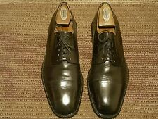 J. MURPHY BY JOHNSTON & MURPHY MEN OXFORD #11 M BLACK LEATHER MADE IN USA.