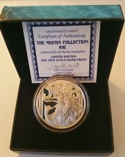 Alphonse Mucha 1 0z .999 silver coin JOB #1 in Art series collection Boxed,  COA