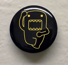 """BRAND NEW Dancing Yellow Outline Domo kun 1.25"""" Button Pin ~ Officially Licensed"""