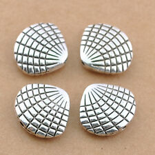 60pcs Wholesale Tibetan Silver Cute Shell Alloy Connector Spacer Beads 13x11mm
