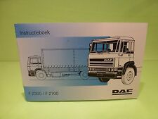 VINTAGE DAF TRUCK F2300 F2700 - INSTRUCTIEBOEK INSTRUCTION BOOK - RARE - GOOD