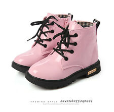New Girl Martin Boots Children Fashion Shoes Waterproof  Kids Ankle Boot Size
