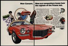 1970 CHEVROLET CAMARO Rally Sport Coupe With Turbo Jet 396 V8 Engine VINTAGE AD