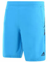 New Mens Adidas Ultimate Climalite Woven Training Shorts - Blue - Gym Sports