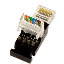 10x Netzwerk RJ45 Stecker Tooless für Cat6 Verlegekabel, Montage ohne Werkzeug