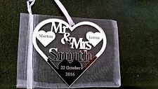 MR & MRS SMITH BRIDE AND GROOM WEDDING GIFT PERSONALISED KEEPSAKE