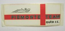 VECCHIO ADESIVO AUTO F1 RALLY / Old Original Sticker PIEMONTE TEAM (cm 20 x 7)