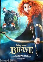BRAVE ORIGINAL 1 SHEET  POSTER PIXAR DISNEY 27X40 2012 D/S KELLY MACDONALD