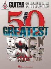Guitar World 50 Greatest Rock Songs Ozzy Thin Lizzy Pink Floyd TAB Music Book