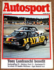 Autosport 4/5/78* TONY LANFRANCHI - WILLIAMS FW06 Poster - FRANK WILLIAMS