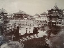 ANTIQUE VINTAGE CHINA CHINESE TURN 19th CENTURY SHANGHAI OR PEKING STREET PHOTO