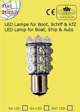 20 LED Lampe Birne Superflux BAY15D f Positionsleuchte Boot Schiff  12V BAY-15D