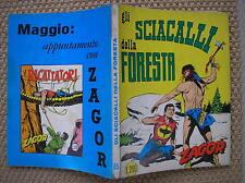 ZAGOR ZENITH #85 GLI SCIACALLI DELLA FORESTA ORIGINALE 1968 OTTIMO